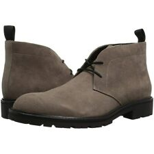 Calvin Klein ULTAN CALF SUEDE Gray Mens Size 8M CHUKKA Ankle Boots Shoes