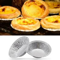 100 pc / ensemble Jetable Feuille D'aluminium Tarte Pan Mini Pot Tarte Tarte