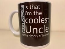 New listing 'Coolest Uncle in the History of Forever' Funny Coffee Mug 12 oz New! Black
