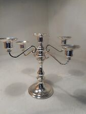 Large Silver Plated Candelabra  ,   ref 2240