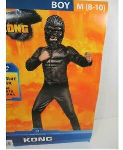 NEW 2 Pc King Kong Boys Halloween Costume Size Medium 8-10 Godzilla vs Kong APE