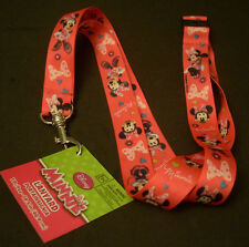 "Lot of 2 Disney Pin Trading Key ID Lanyards 18.5"" Length Minnie Mouse"