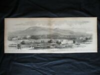 1884 Civil War Print- Battle On Road From Harrisonburg to Port Republic, VA 1862