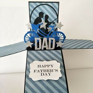 Handmade fathers day card, happy father's day card, card for dad