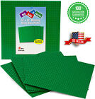 """4Pc Green 10""""x10"""" building Base plates 32x32 stud Classic Compatible Major Brand"""