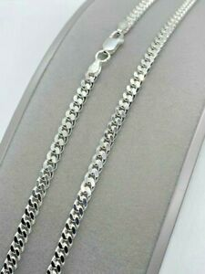 """Sterling Silver 4mm Solid Classic Close Curb Chain 22"""" / 55cm (1132) *"""