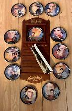 Elvis Presley Wooden Calendar 12 Plates Included Bradford Exchange 2000