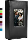 Photo Album 4x6 300 Photos Leather Cover Capacity Book Family Wedding Black