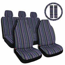 Baja Car Seat Cover Multicolor Saddle Blanket Steering Wheel Cover Universal