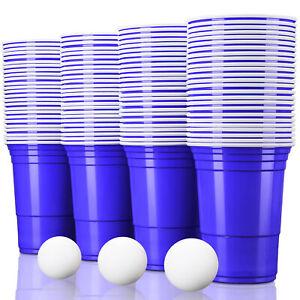 Partybecher Blau Trinkbecher Einwegbecher Plastikbecher Party Beer Pong Red Cups