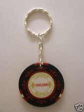 007 Casino Royale $100,000 Poker Chip Silver Plated Keyring