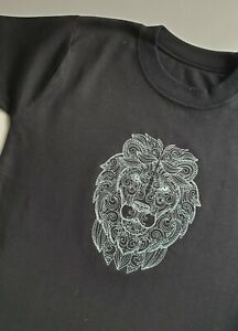 T - shirt, embroidered shirt,unisex t-shirt, Embroidery file LION