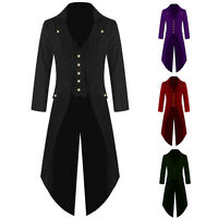 Retro Men Coat Gothic Tailcoat Jacket Tuxedo Cosplay Costume Punk Coats Clothes