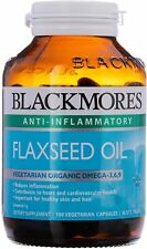 BLACKMORES FLAXSEED OIL 1000MG 100 VEGETARIAN CAPSULES