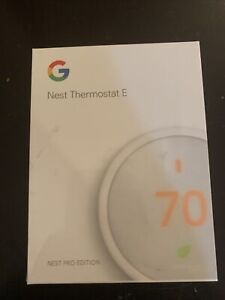 Brand New Unopened!  Nest E T4001ES Programmable Thermostat - White