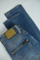RRP €198 NUDIE GRIM TIM SALTY STONE Men's W29/L32 Faded Blue Org. Jeans 4415_mm