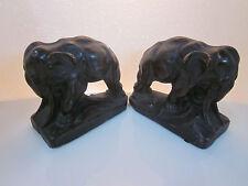Vintage Pair of K.B.W. Art Bronze Elephant Book Ends Kathodian Bronze Works