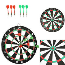 "Large 14"" Dart Board Set Dartboard Family Party Game Fun With 6 Darts UK Seller"