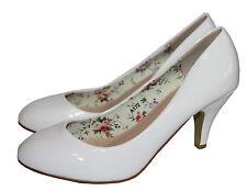Zapatos de Novia Noche Tacón En Charol Óptica Blanco con un Pequeño 1098-p