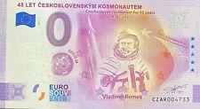 BILLET 0 EURO 45 LET CESKOSLOVENSKYM KOSMAUTEN  REMEK 2021 NUMERO DIVERS