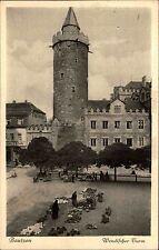 Bautzen Sachsen Oberlausitz AK ~1920/30 Wendischer Turm Marktplatz Markt Grabs