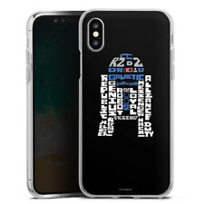 Apple iPhone Xs Silikon Hülle Case - R2-D2 Typo