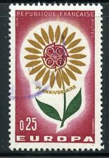 STAMP / TIMBRE FRANCE OBLITERE N° 1430  EUROPA 1964 FLEUR