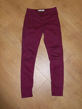"""TOPSHOP MOTO LEIGH SKINNY BLUE WASH JEGGINGS JEANS SIZE 8 W26"""" 32"""" £38 VGC"""
