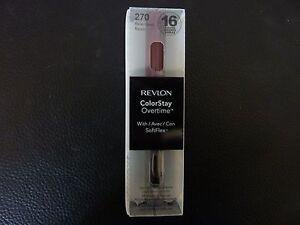 Revlon ColorStay Overtime Lipcolor - RELENTLESS RAISIN  #270 - Brand New / Boxed