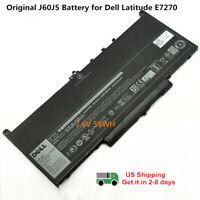 Genuine J60J5 Battery For Dell Latitude E7270 E7470 MC34Y 242WD GG4FM 7.6V 55Wh