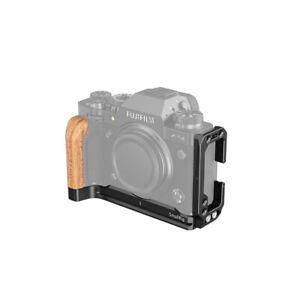 SmallRig X-T4 L Bracket for Fujifilm X-T4 Camera L Plate with Wood Grip LCF2811