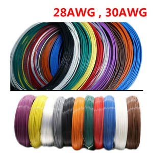 28AWG 30AWG PTFE Silver-plated Copper Stranded Electrical Wire Cable Audio Wire
