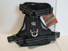 Dog Harness Vest Handle Reflective Adjustable Black Gray Brother Cat Size Small