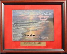 CHARLES WALKER HOF Florida Highwaymen Hand Signed Framed 2014 CALENDAR • COA