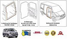 VW Volkswagen Transporter T5 Dichtungssatz Türen + Heckklappe + Schiebetür