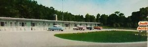 Vintage Small's Motel Epsom, NH - Mid Century Old Cars MCM Architecture Postcard