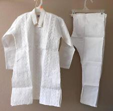 Men Indian Pure Cotton Men Kurta Handmade White Cotton Kurta Pajama Set