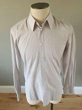 NWT VERSACE COLLECTION-LAVENDER DESIGN $300 40/15.75 Dress Shirt