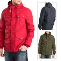 Threadbare Mens Hackman Designer Hooded Jacket Lightweight Zip Up Coat