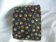 "Dog Puppy Belly Band Wrap Contoured Diapers Male Puppy Flannel lined 14.5"" PAWS"