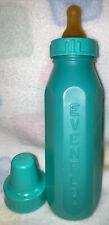 Vintage Evenflo Baby Bottle-Plastic Nurser- Pretty Teal Color! Latex Nipple/Cap