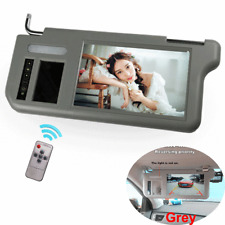 "9"" 2 Channel Video Car Sunvisor Rearview Mirror Screen TFT LCD Monitor Left Side"