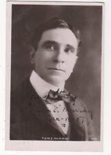 Actor Tom E Murray 1907 RPPC Postcard Autographed US100