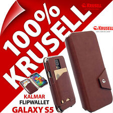 New Krusell Kalmar FlipWallet Synthetic Leather Flip Case for Samsung Galaxy S5