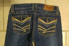 Womens ADIKTD Jeans BOOTCUT flap pocket STUDDED Sz 26/0 (x 31 inseam) CUTE!