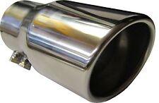 """4.75"""" 120mm Coda rotonda laminati Di Scarico Auto Punta Tubo Chrome Trim UNIVERSALE A CLIP"""