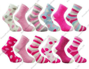 3 X Ladies Co-Zees Fluffy Luxurious Soft & Cosy Bed Socks Fit to UK Size 4-8