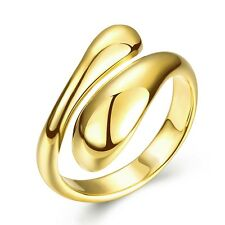 New European K gold Gold Plated Geometry Opening Adjustable Rings Women Gift Box