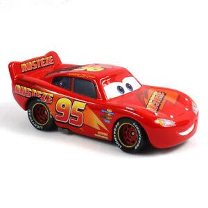 Disney Pixar Cars Rust-eze Lightning McQueen 1:55 Diecast Model Toy Car Loose