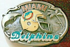 MIAMI DOLPHINS NFL LONE STAR LIMITED EDITION BELT BUCKLE #1168 ca 1987